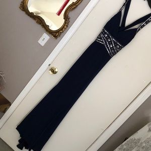 Deb Dresses - Deb Navy Prom Gown